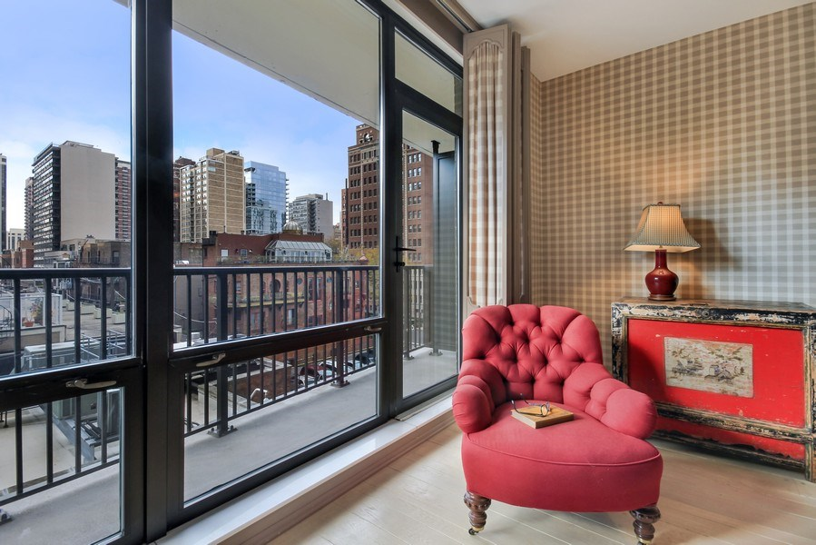 Real Estate Photography - 1040 Lake Shore Drive, Unit 5B, Chicago, IL, 60611 - Master Bedroom /West Terrace
