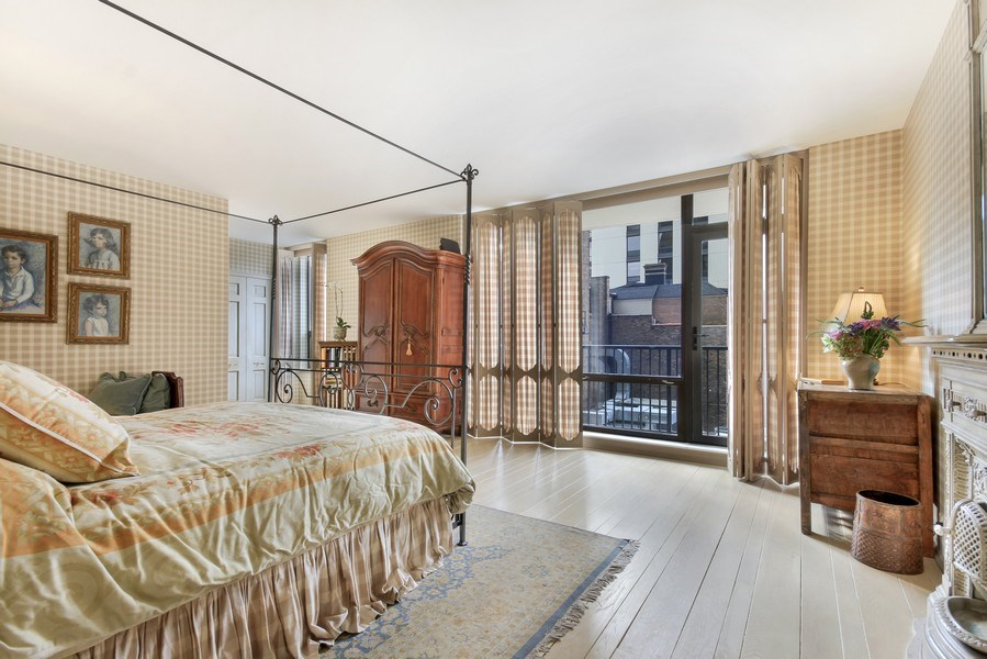 Real Estate Photography - 1040 Lake Shore Drive, Unit 5B, Chicago, IL, 60611 - Master Bedroom /West View