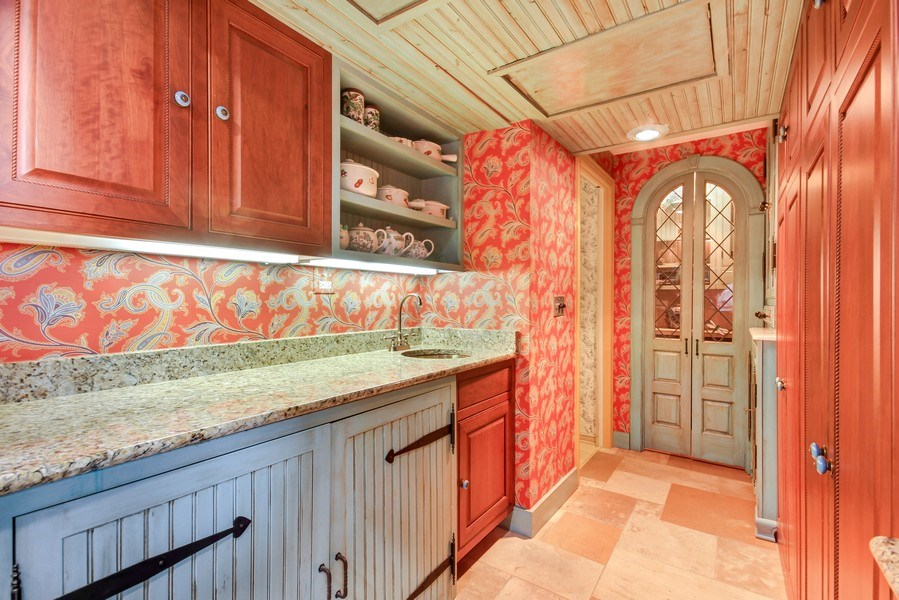 Real Estate Photography - 1040 Lake Shore Drive, Unit 5B, Chicago, IL, 60611 - Butler's pantry