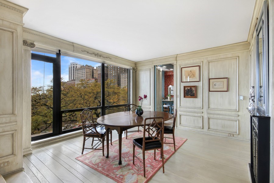 Real Estate Photography - 1040 Lake Shore Drive, Unit 5B, Chicago, IL, 60611 - Dining Room