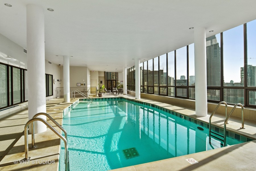 Real Estate Photography - 1040 Lake Shore Drive, Unit 5B, Chicago, IL, 60611 - Indoor Pool