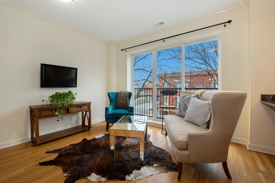 Real Estate Photography - 1849 W Newport, 2, Chicago, IL, 60657 - Living Room