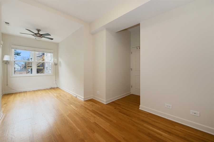 Real Estate Photography - 1849 W Newport, 2, Chicago, IL, 60657 - Bedroom