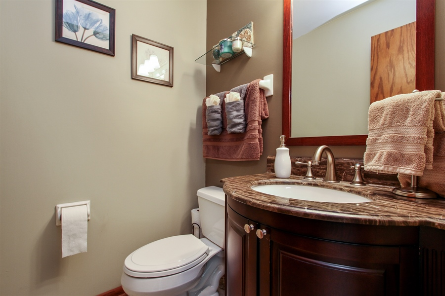 Real Estate Photography - 21758 W Brentwood Ln, Lake Villa, IL, 60046 - Powder Room