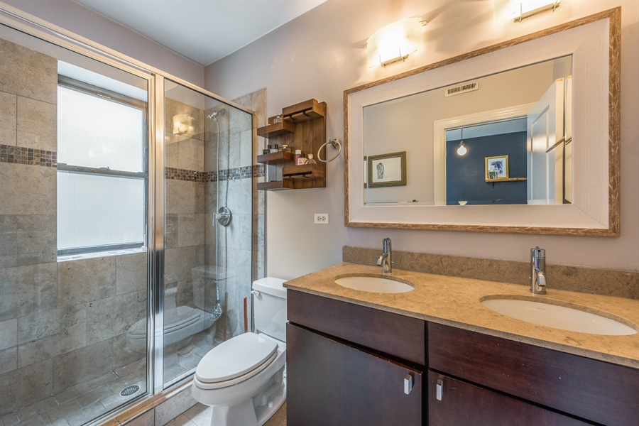 Real Estate Photography - 1944 W Newport Ave, Unit 1, Chicago, IL, 60657 - Master Bathroom