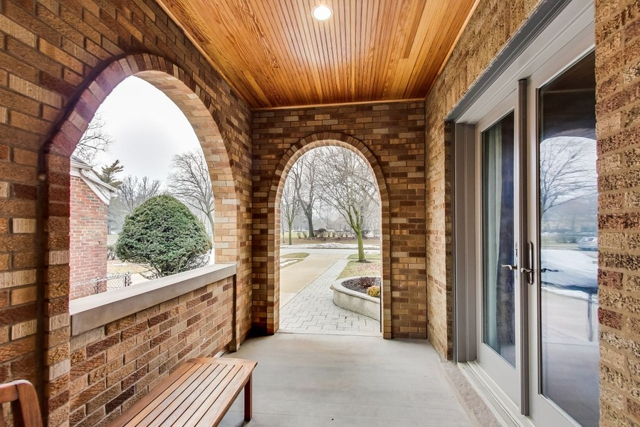 Real Estate Photography - 1215 Park Ave, River Forest, IL, 60305 - Arch lock brick front porch