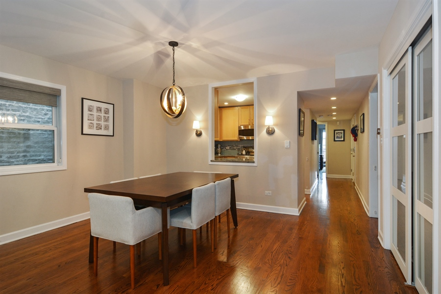 Real Estate Photography - 2648 N Seminary, unit 3, Chicago, IL, 60614 - Dining Room