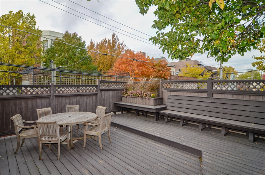 Real Estate Photography - 2636 N Greenview, Chicago, IL, 60614 - Roof Deck