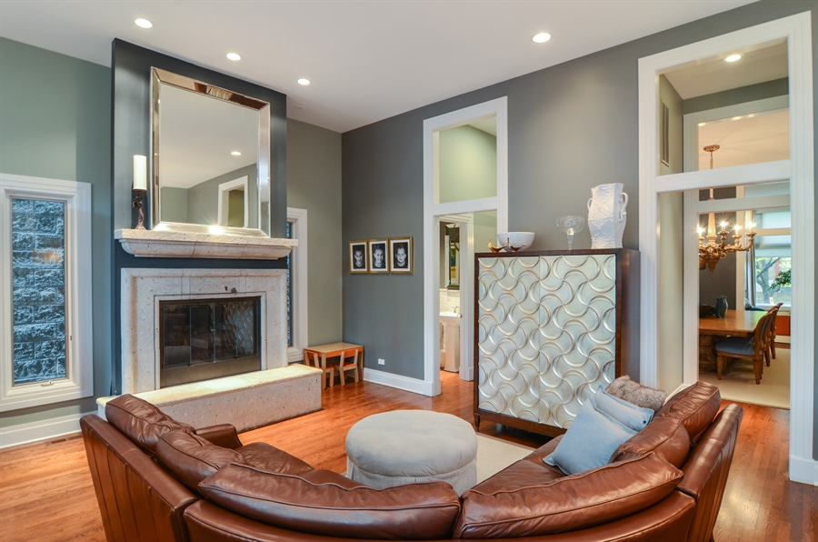 Real Estate Photography - 2636 N Greenview, Chicago, IL, 60614 - Family Room