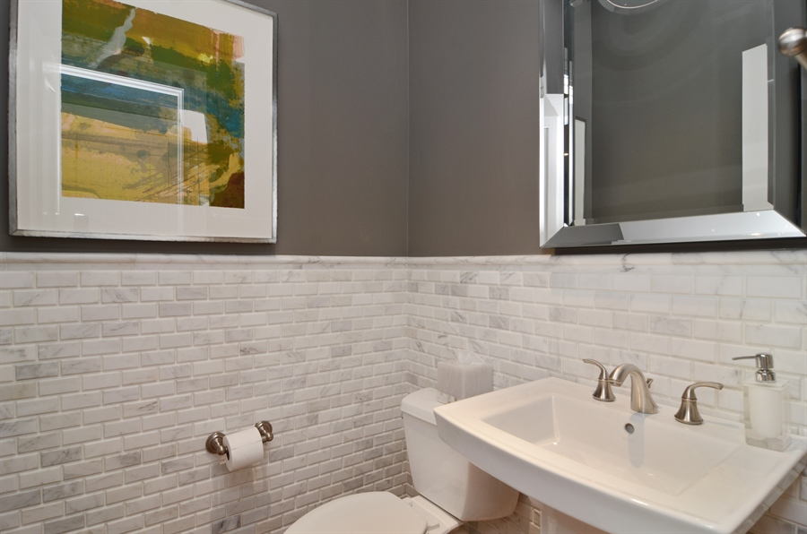 Real Estate Photography - 2636 N Greenview, Chicago, IL, 60614 - Half Bath