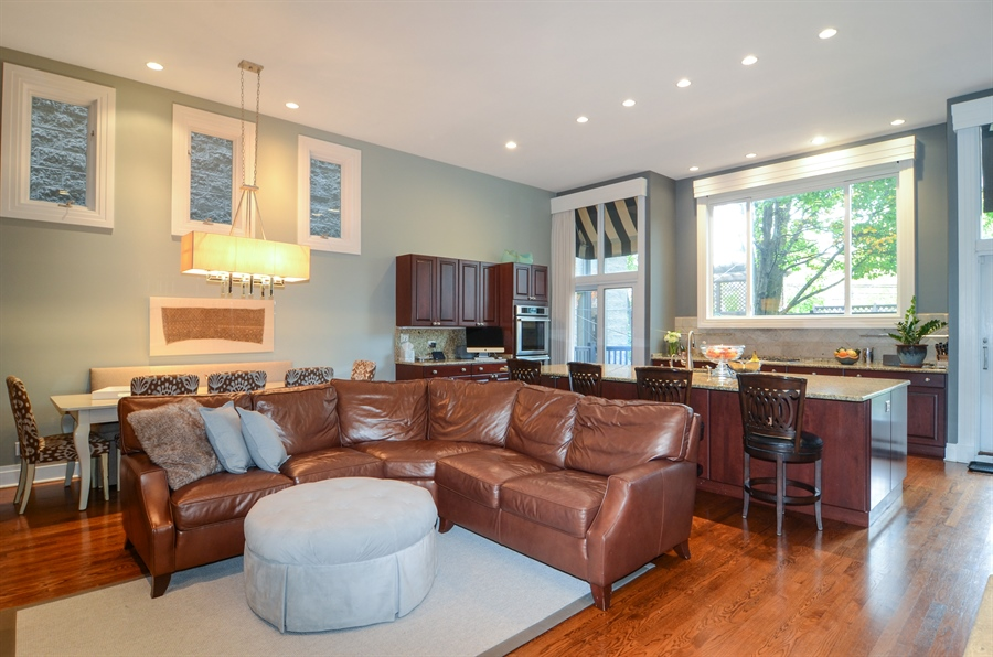 Real Estate Photography - 2636 N Greenview, Chicago, IL, 60614 - Family Room / Kitchen