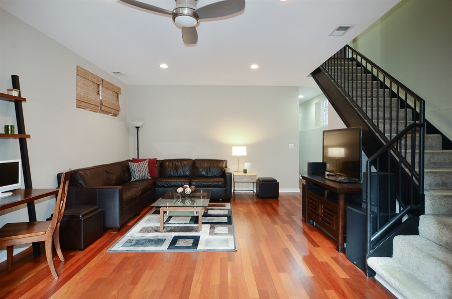 Real Estate Photography - 2312 W Wabansia Ave, Unit 1, Chicago, IL, 60647 - Family Room