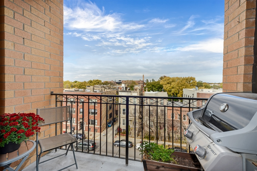 Real Estate Photography - 3125 W. Fullerton, 502, Chicago, IL, 60647 - Terrace