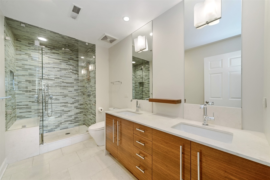 Real Estate Photography - 3125 W. Fullerton, 502, Chicago, IL, 60647 - Master Bathroom
