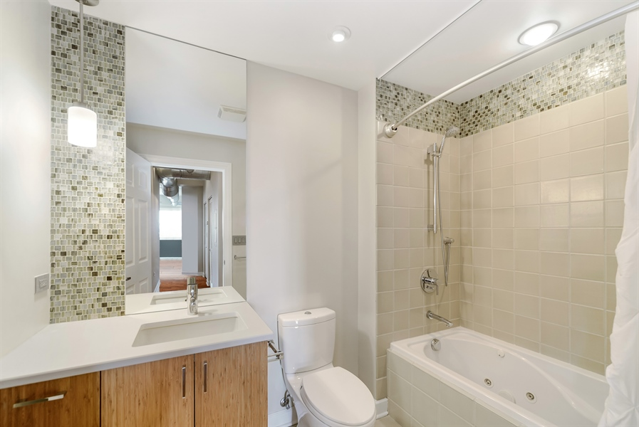 Real Estate Photography - 3125 W. Fullerton, 502, Chicago, IL, 60647 - Second Bath