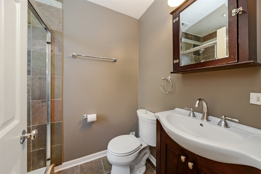 Real Estate Photography - 2443 N. Kedzie, 2, Chicago, IL, 60647 - Master Bathroom