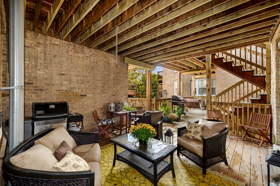Real Estate Photography - 2443 N. Kedzie, 2, Chicago, IL, 60647 - Deck