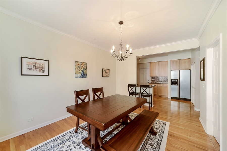 Real Estate Photography - 2443 N. Kedzie, 2, Chicago, IL, 60647 - Living Room / Dining Room