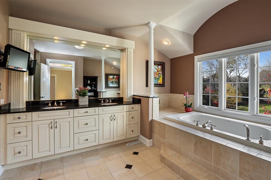 Real Estate Photography - 1685 Burr Oak Drive, Libertyville, IL, 60048 - Master Bathroom
