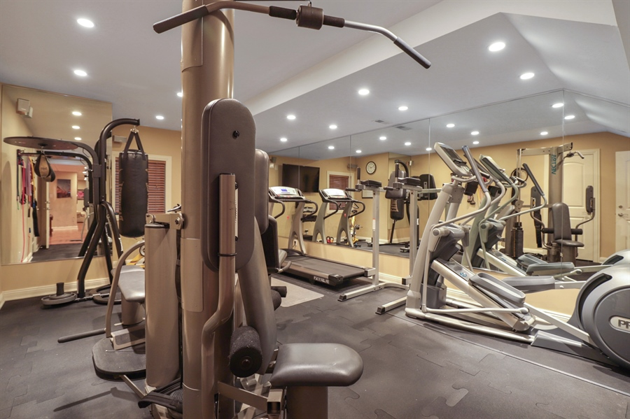 Real Estate Photography - 1685 Burr Oak Drive, Libertyville, IL, 60048 - Exercise Room