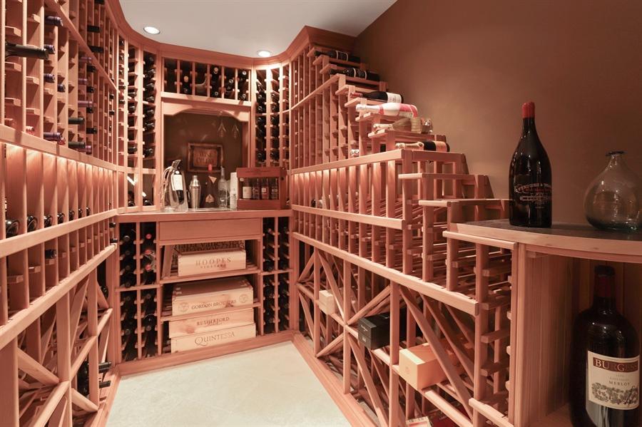 Real Estate Photography - 1685 Burr Oak Drive, Libertyville, IL, 60048 - Wine Cellar