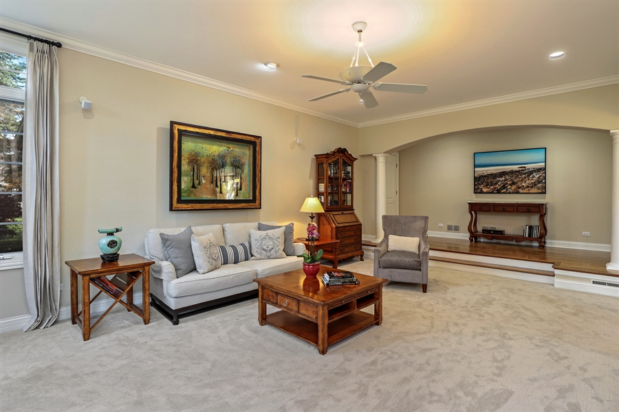 Real Estate Photography - 1685 Burr Oak Drive, Libertyville, IL, 60048 - Family Room