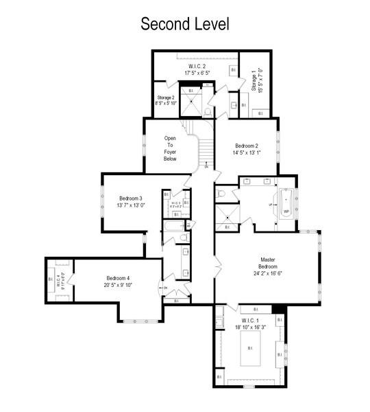 Real Estate Photography - 1685 Burr Oak Drive, Libertyville, IL, 60048 - Floor Plan