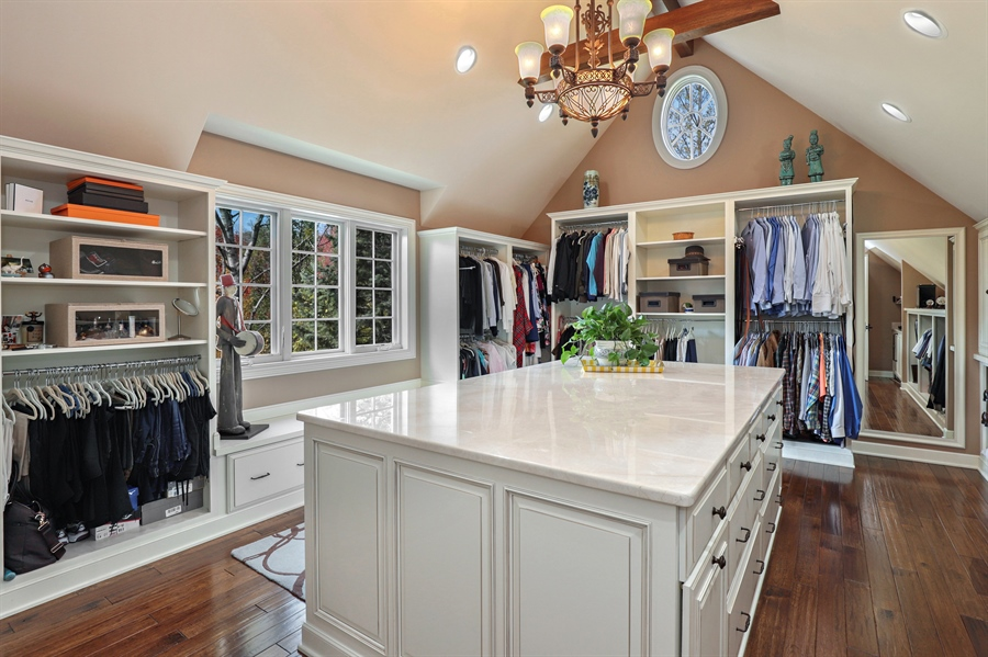Real Estate Photography - 1685 Burr Oak Drive, Libertyville, IL, 60048 - Master Bedroom Closet