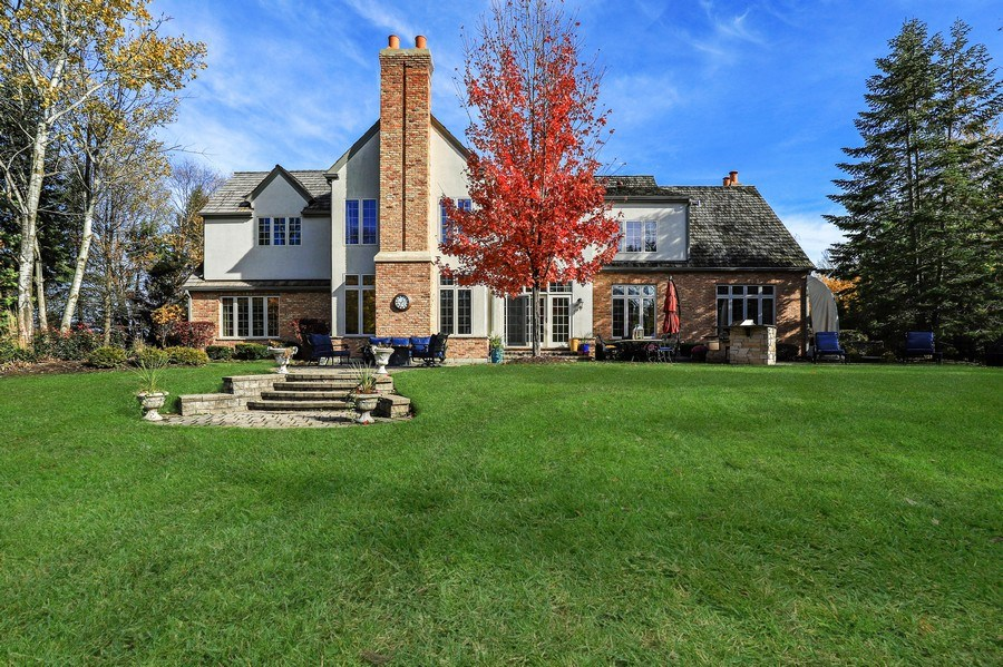 Real Estate Photography - 1685 Burr Oak Drive, Libertyville, IL, 60048 - Rear View