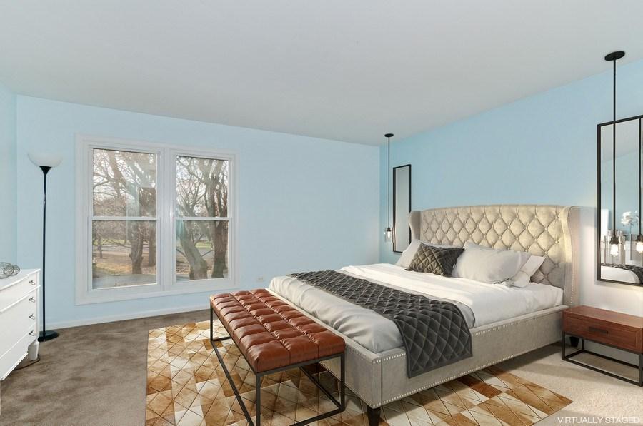 Real Estate Photography - 1068 Creekside, Wheaton, IL, 60189 - Master Bedroom