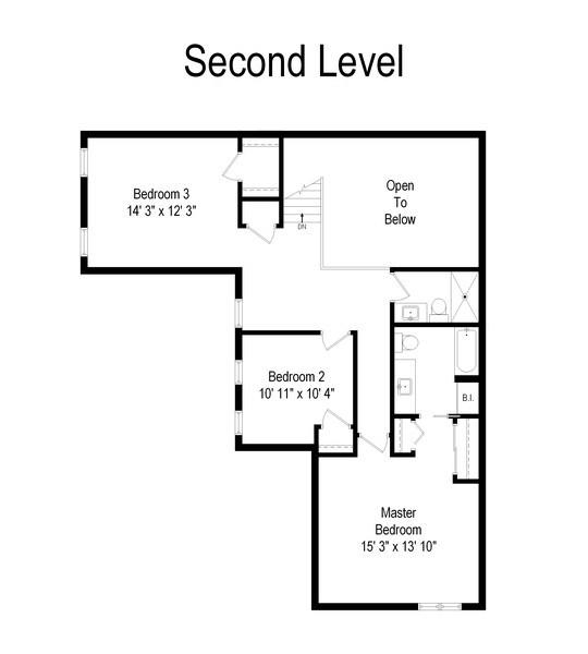 Real Estate Photography - 1068 Creekside, Wheaton, IL, 60189 - Floor Plan