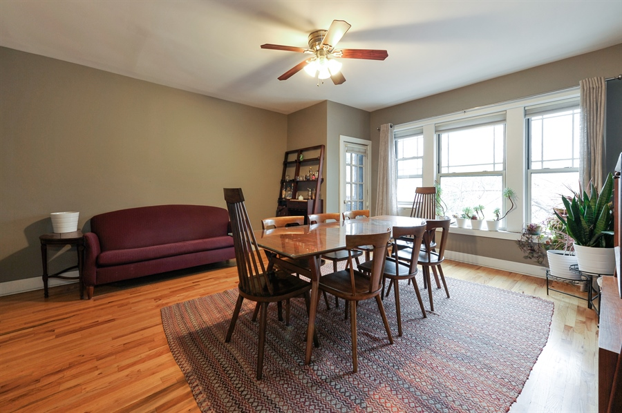 Real Estate Photography - 4601 N. Dover, 2, Chicago, IL, 60640 - Dining Room