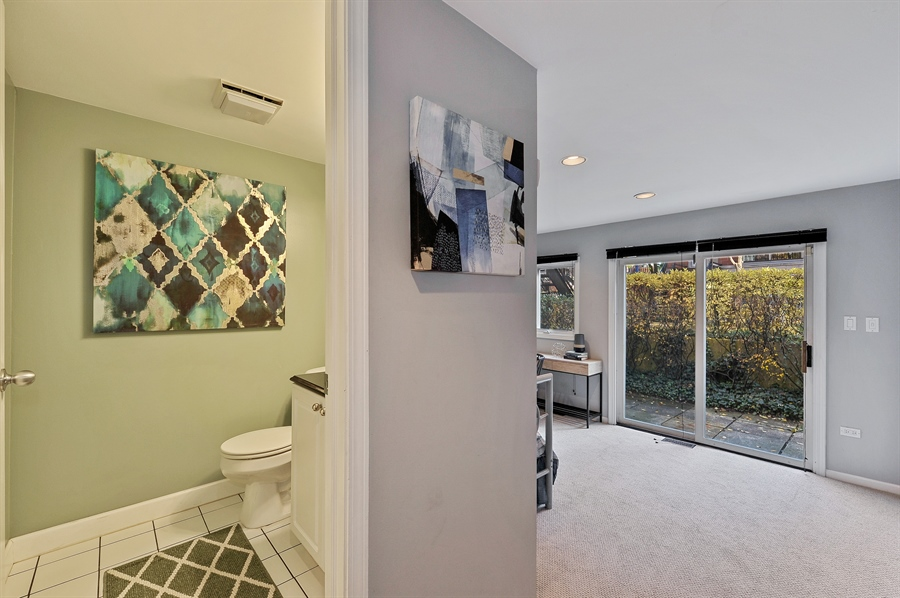 Real Estate Photography - 1522 W School St, Chicago, IL, 60657 - Powder Room