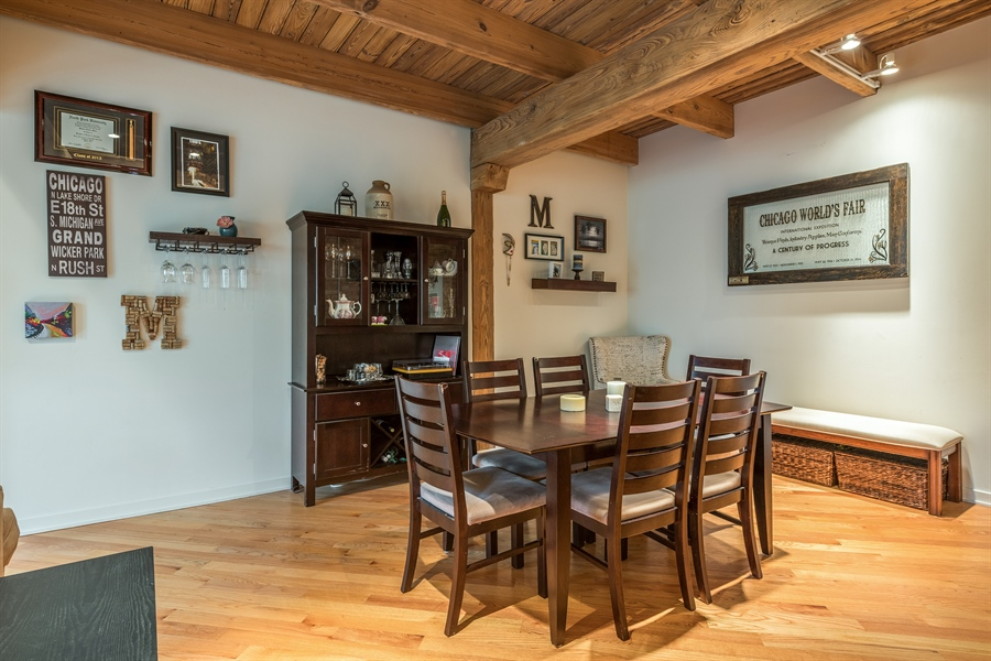 Real Estate Photography - 3201 N Ravenwood, Unit 211, Chicago, IL, 60657 - Dining Area