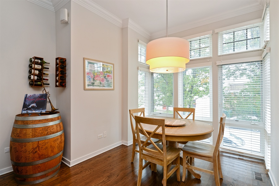 Real Estate Photography - 2900 N Paulina, Chicago, IL, 60657 - Dining Room