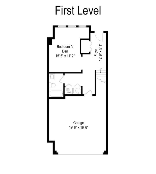 Real Estate Photography - 2900 N Paulina, Chicago, IL, 60657 - Floor Plan