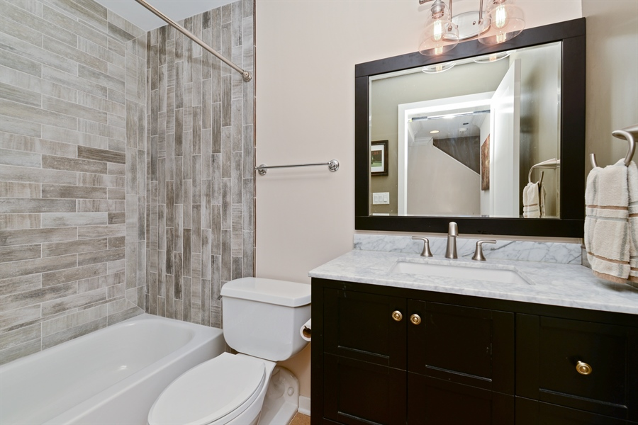 Real Estate Photography - 2900 N Paulina, Chicago, IL, 60657 - 2nd Bathroom