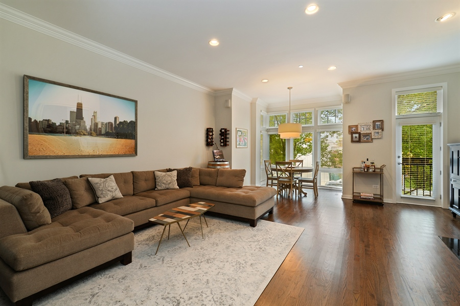 Real Estate Photography - 2900 N Paulina, Chicago, IL, 60657 - Living Room / Dining Room