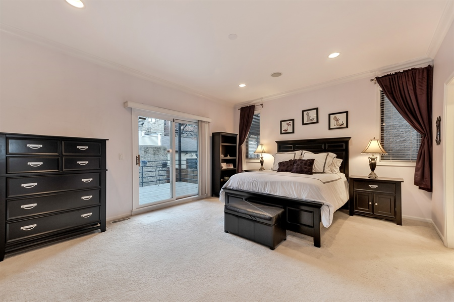 Real Estate Photography - 3233 North Racine, 1, Chicago, IL, 60657 - Master Bedroom