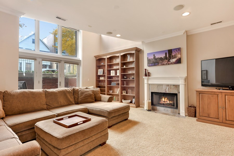 Real Estate Photography - 3233 North Racine, 1, Chicago, IL, 60657 - Family Room