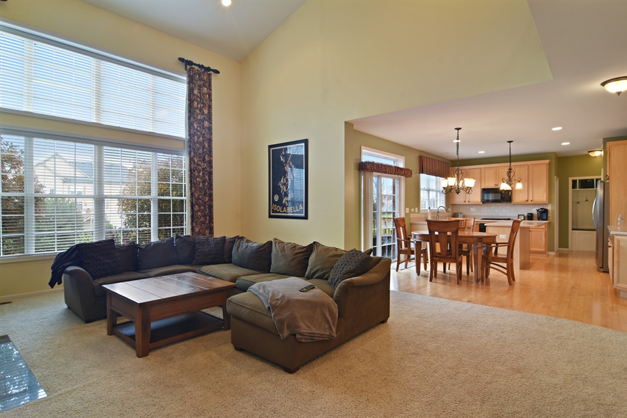 Real Estate Photography - 16 Deerfield, Hawthorn Woods, IL, 60047 - Family Room / Kitchen