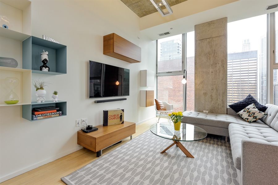 Real Estate Photography - 550 N St. Clair, 2003, Chicago, IL, 60611 - Living Room