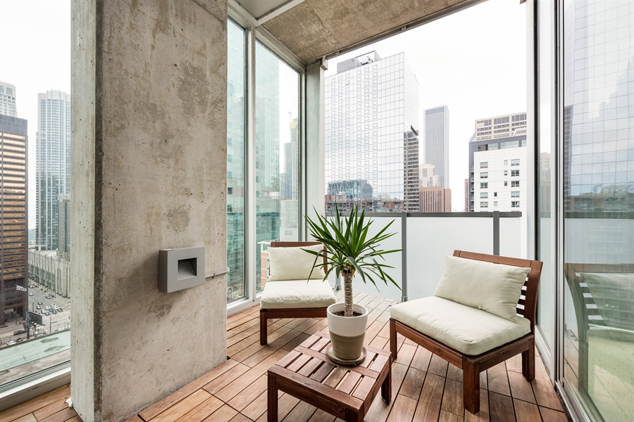 Real Estate Photography - 550 N St. Clair, 2003, Chicago, IL, 60611 - Terrace