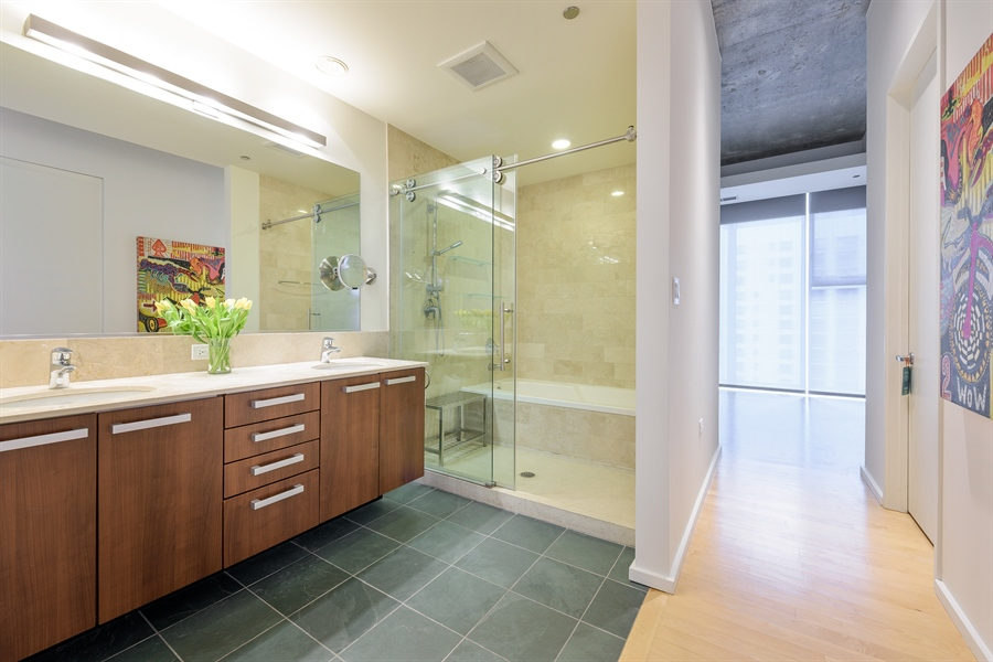 Real Estate Photography - 550 N St. Clair, 2003, Chicago, IL, 60611 - Master Bathroom