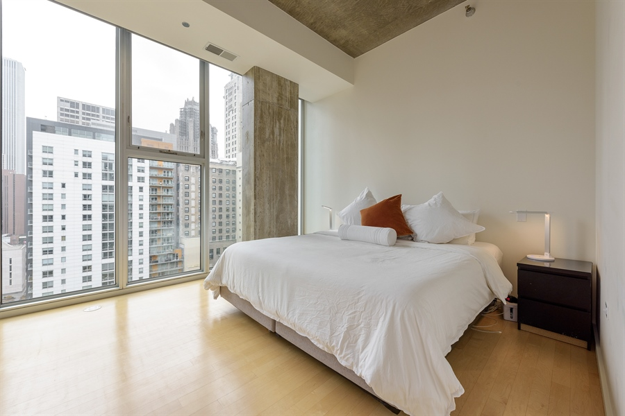 Real Estate Photography - 550 N St. Clair, 2003, Chicago, IL, 60611 - Master Bedroom