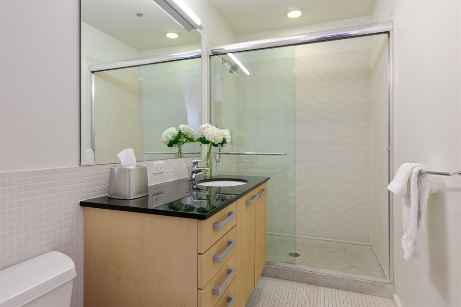 Real Estate Photography - 550 N St. Clair, 2003, Chicago, IL, 60611 - 2nd Bathroom