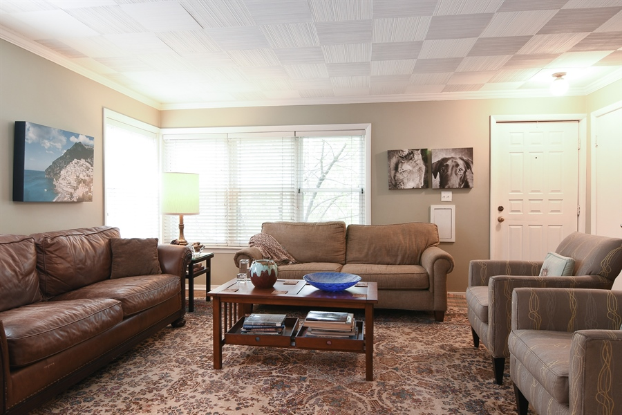 Real Estate Photography - 3625 N. Paulina, Chicago, IL, 60613 - Living Room