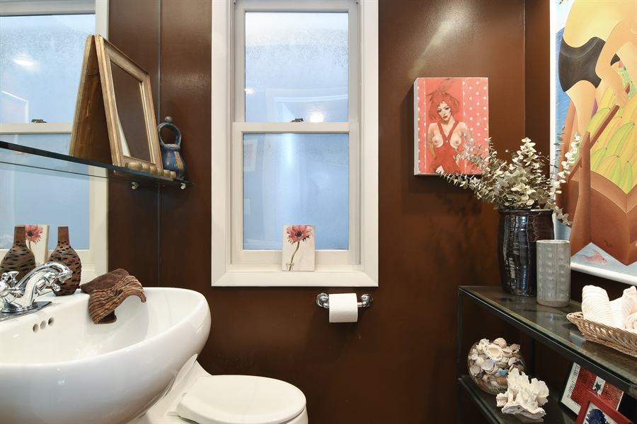 Real Estate Photography - 3625 N. Paulina, Chicago, IL, 60613 - Main floor half bath / powder room