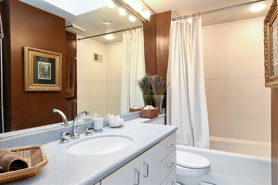 Real Estate Photography - 3625 N. Paulina, Chicago, IL, 60613 - Full bathroom on second floor