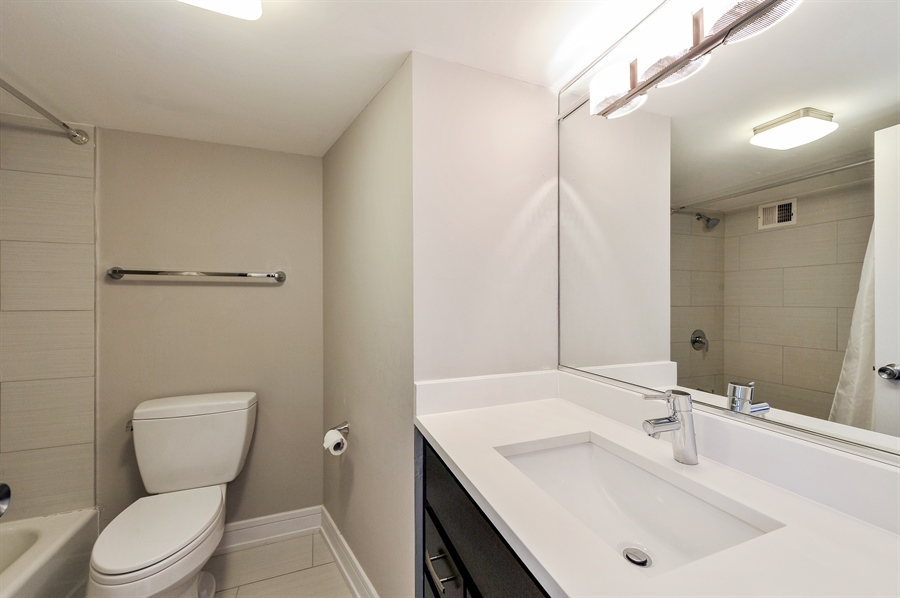 Real Estate Photography - 3930 N Pine Grove, 3110, Chicago, IL, 60613 - Master Bathroom